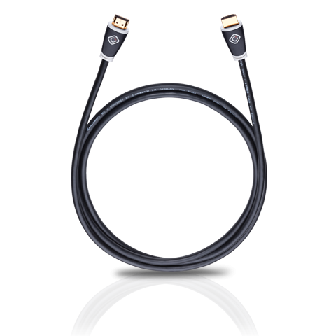 Oehlbach Easy Connect HDMI Kabel 0,75m mit Ethernet, weiß