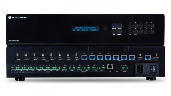Atlona AT-UHD-PRO3-88M HDMI / HDBaseT Matrix, 8 x 8+2