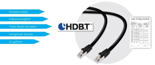 Netzwerkkabel UF, Cat.6A, 7,5m HDBaseT, AWG23, S/FTP