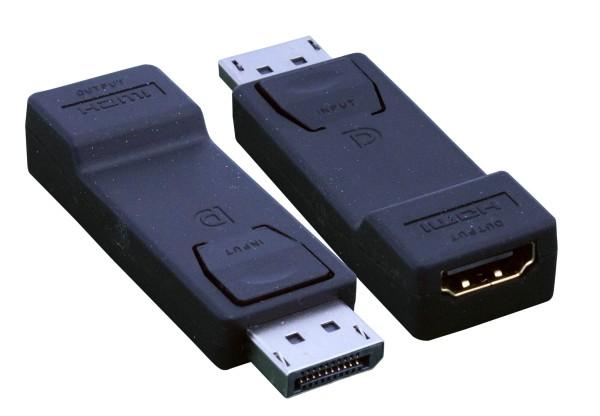 Displayport auf HDMI Adapter, schwarz