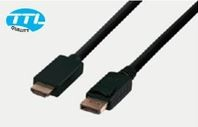 Displayport auf HDMI Kabel 1m DP St. / HDMI St. schwarz