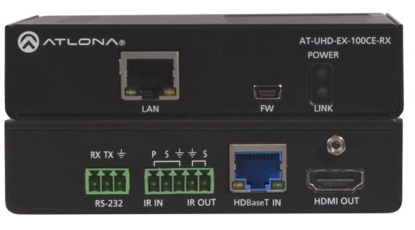 Atlona AT-UHD-EX-100CE-RX HDBaseT Receiver, max.100m