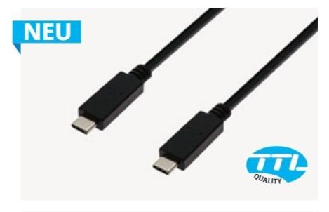 USB-C Kabel 2m St./St. schwarz