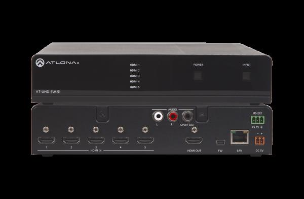Atlona AT-UHD-SW-51 HDMI Switcher 5 X 1