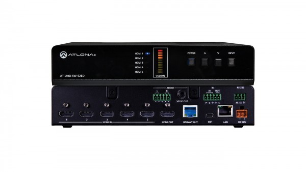 Atlona AT-UHD-SW-52ED HDMI Switcher 5 X 2