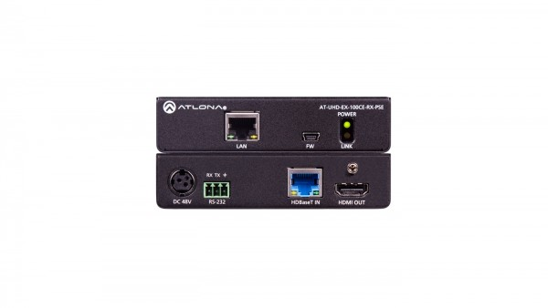 Atlona AT-UHD-EX-100CE-RX-PSE HDBaseT Receiver, max.100m