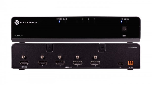 Atlona AT-RON-444 HDMI Splitter, 1 X 4